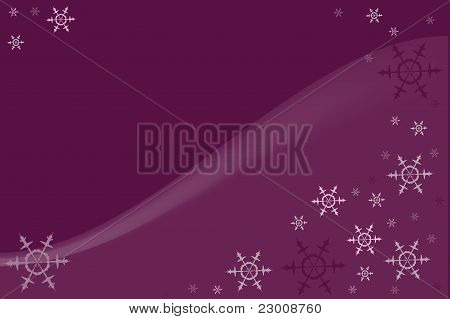 Violet background with colorful snowflakes