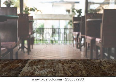 Food Court, Cafe, Coffee Shop, Restaurant Interior. Blurry  Defocused Background