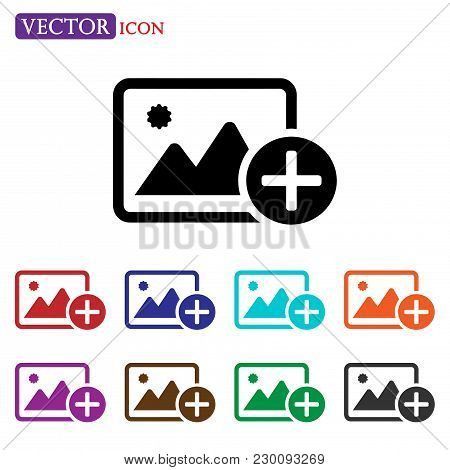 Add Image Icon Vector. Add Picture Icon .add Photo Icon Image Icon