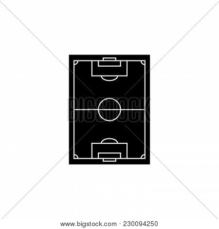 Scheme Of The Football Field. Football Field Icon