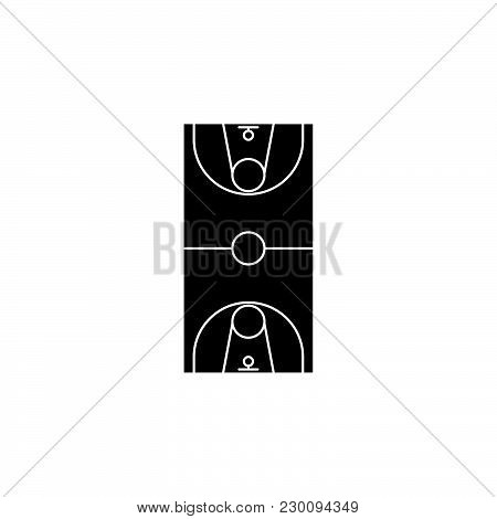 Scheme Of The Basketball Field. Basketball Field Icon