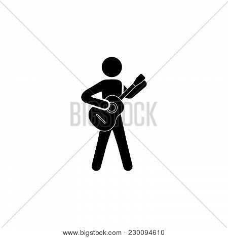 ..the Man With The Guitar; Guitar Player Icon