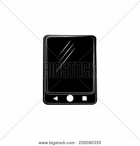 Camera Icon Vector Black On White Background