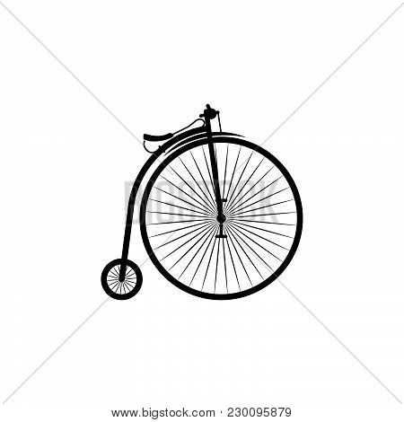 Penny-farthing Vector Icon Black On White Background