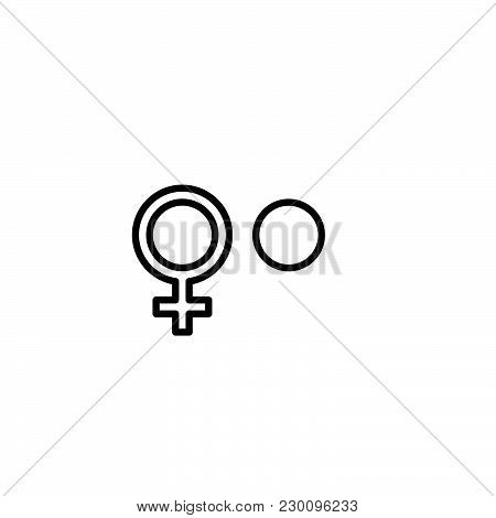 Web Line Icon. Candlestick. Black On White Background