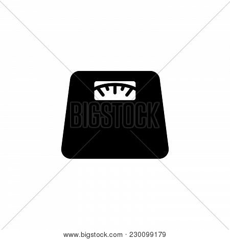 Web Line Icon. Scales. Black On White Background