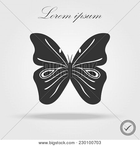 Butterfly Icon, Butterfly Silhouettes On White Background
