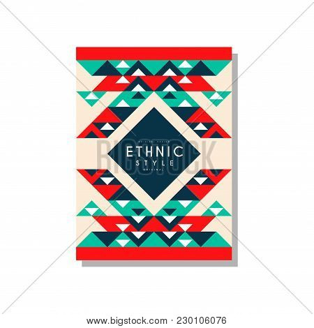 Ethnic Style Original, Ethno Tribal Geometric Ornament, Trendy Pattern Element For Business Card, Lo