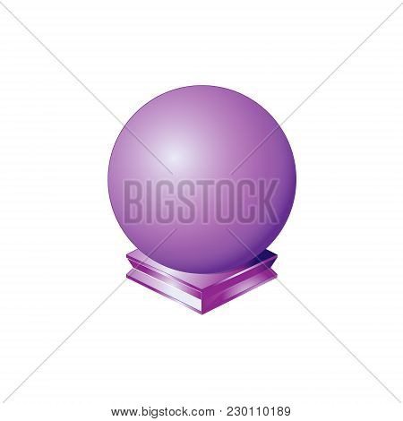 Sphere Purple Round Ball Orb Geometric Shape Basic Circle, Solid Figure Simple Minimalistic Single G