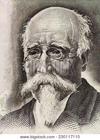 Jose Echegaray Portrait From Spanish Money - Pesetas