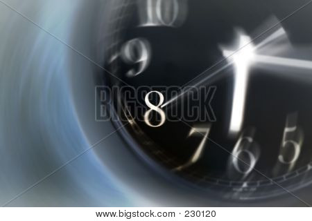 Time Spinning On A Clock