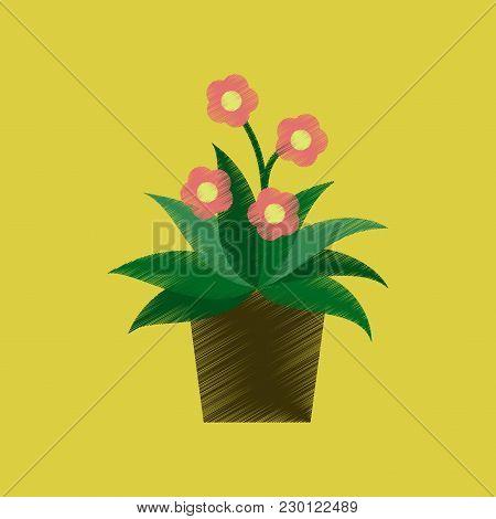 Flat Shading Style Icon Geranium Nature Botany