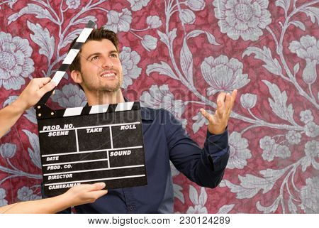 Director Clapping The Clapper Board, Indoor