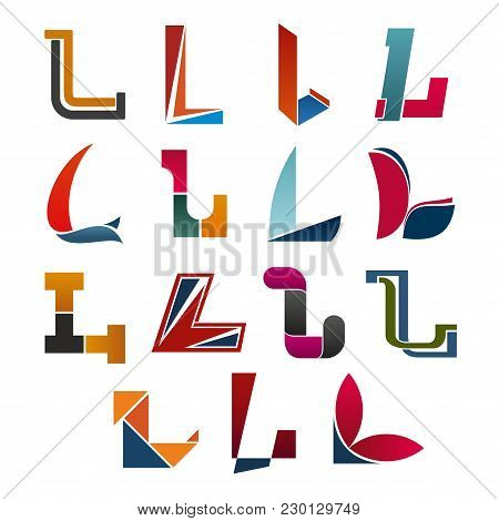 L Letter Icons Template For Corporate Or Business Company And Brand Name Emblem. Vector Letter L Set