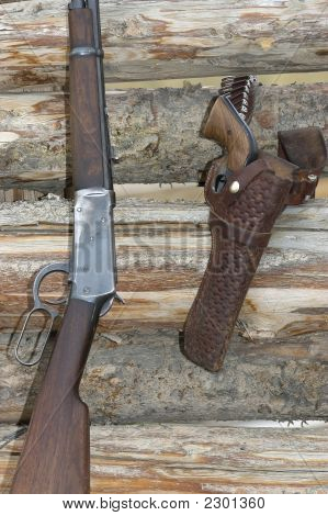 Revolver And Rifle
