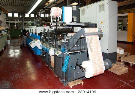 Printshop industriale: Flexo stampa stampa