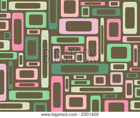 Retro Pink And Green Rectangles