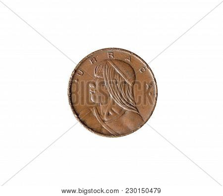 Obverse Of One Centesimo Coin Made By Panama 1968