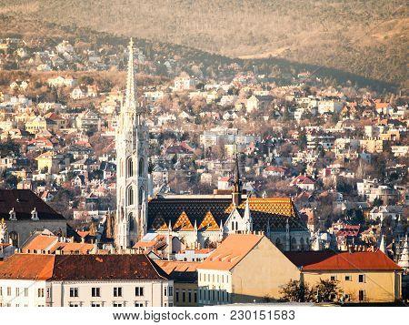 St Matthias Church On Buda Castle Hill, Budapest, Hungary.