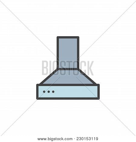 Exhaust Hood Filled Outline Icon, Line Vector Sign, Linear Colorful Pictogram Isolated On White. Kit