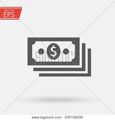 Dollar Stack Pack Icon. Stack Of Cash Or Money For Apps And Websites. Finance And Economy Sign. Mone