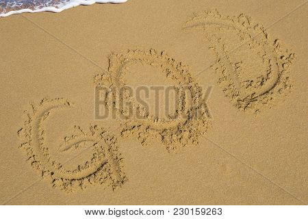 Beach Text Write Word Seaside  The Natural, God