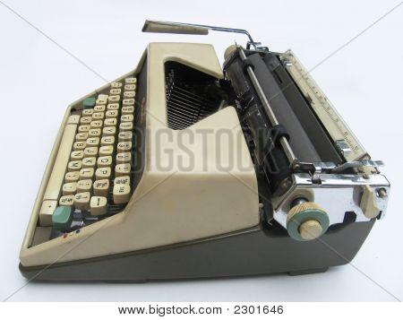 Old Typewriter - Side View
