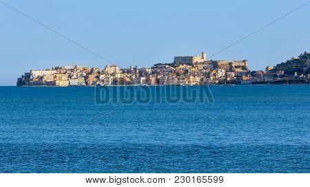 Gaeta Town Evening Sea Bay View, Province Of Latina, In Lazio, Central Italy