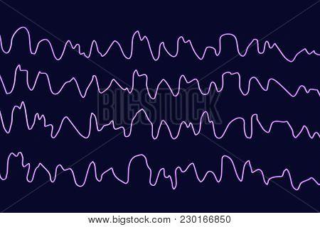 Eeg Electroencephalogram, Brain Wave During Sleeping, 3d Illustration