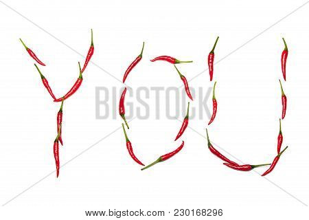 The Word You Written In Chilis On White