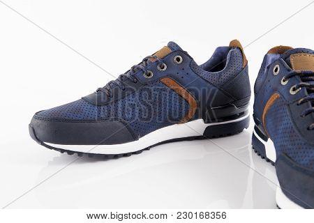 Afife, Portugal - January 20, 2018: Kangaroos Shoes. Kangaroos, España Company. Isolated On White. P