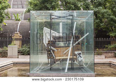 Barcelona,spain-august 31,2015:sculpture