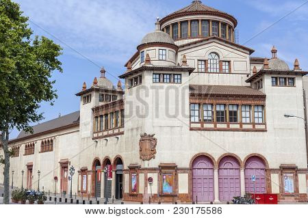 Barcelona,spain-july 19,2015: Palace, Palau Agricultura, Mercat De Les Flors, Espace For Scenic Arts