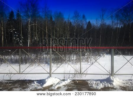 Russian Winter Railway Station Background High Def