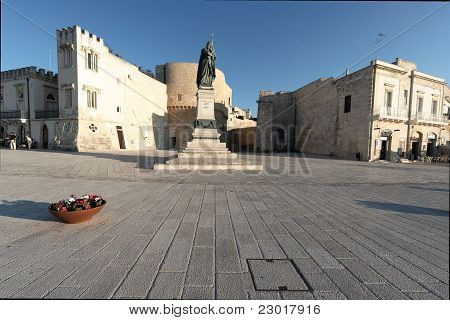 Square In Front The Sea In Otranto