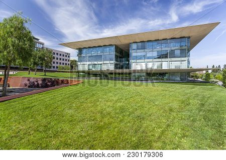 Barcelona,spain-august 5,2015: Modern Architecture, Building Edificio Nexus Ii, By Ricard Bofill, Oc