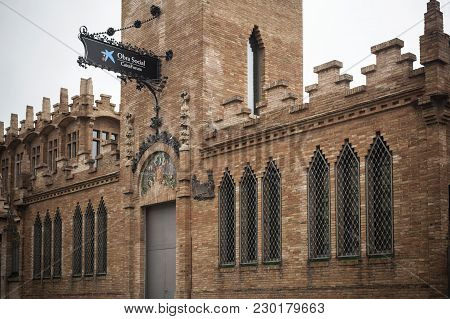 Barcelona,spain-september 30,2015:architecture, Building, Modernist Style, Fabrica Factory Casaramon