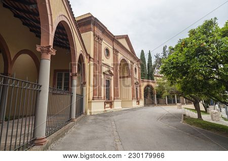 Barcelona,spain-june 8,2015: Archeology Museum, Museu Arqueologia Located In Old Palace Built For 19