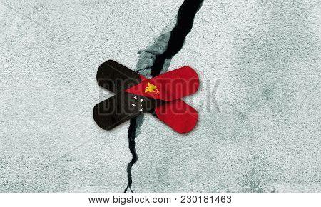 Photo manipulated idea for rebuilding Papua New Guinea after earthquake.
