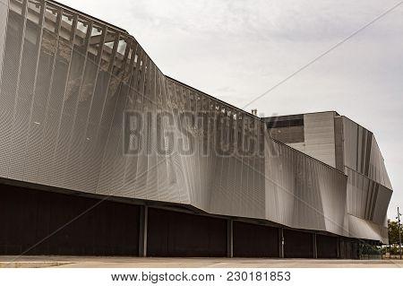 Barcelona,spain-september 7,2015: Modern Architecture, The Ccib - Centre De Convencions Internaciona