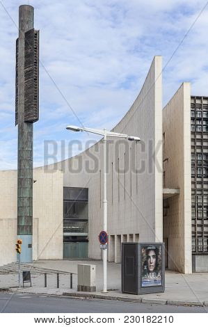 Barcelona,spain-january 20,2015: Architecture, Modern Religious Building, Abraham Ecumenical Centre,