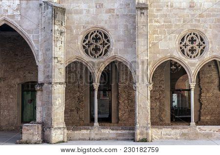 Ancient Convent Facade, Antic Convent De Sant Agusti, Barcelona.