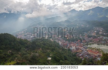 Sapa With Clouds And Mist, Lao Cai, Vietnam Landscapes