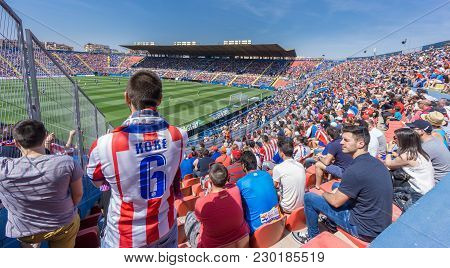 Valencia - May 10: Levante Fc Supporters On The Stands During The Spanish League Match Between Levan