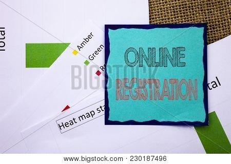 Conceptual Writing Text Showing Online Registration. Concept Meaning Register Web Subscription Subsc