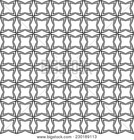 Abstract Seamless Pattern - Stylized Circles, Squares, Rhombuses. Geometric Wallpaper, Symmetrical G