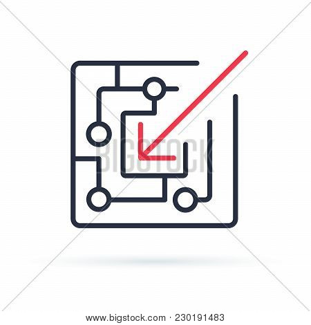 Proactive Icon Line Symbol. Isolated Vector Illustration Of Icon Sign Concept For Your Web Site Mobi