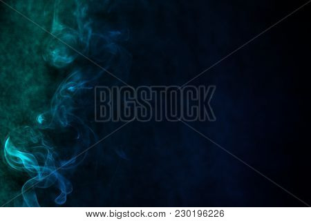 Fuming Smoke From The Left In A Variety Of Colors Amazing Background