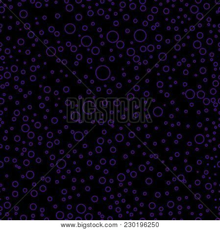 Circles Seamless Pattern. Modern Stylish Texture. Repeating Or Looping Abstract Trendy Outline Circl