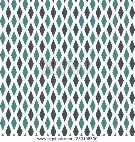 Seamless Pattern With Simple Ornament. Argyle Wallpaper. Rhombuses And Lozenges Motif. Repeated Geom